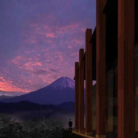 巨木と富士山