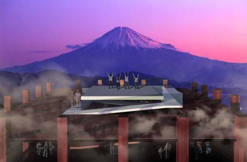 富士見櫓からの富士山